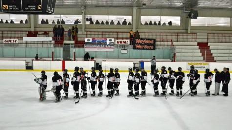 Wayland Boys' Hockey Senior Night (14 photos)