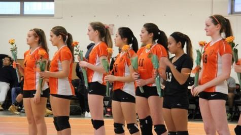 Varsity girls' volleyball wins against Belmont (33 photos)
