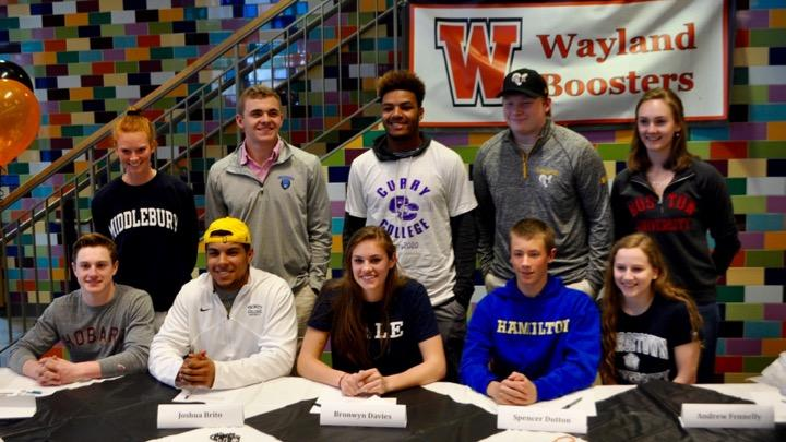 Pictured+above+are+the+members+of+the+Class+of+2016+who+were+recruited+to+play+a+sport+in+college.+WSPN+interviewed+WHS+athletes+who+plan+on+playing+a+sport+in+college+to+gain+insight+about+the+college+recruiting+process.