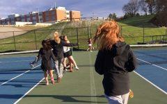 Girls' tennis team having a successful season