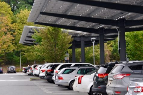 Solar panels installed in WHS' parking lots