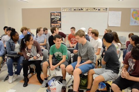 Students participate in a focus group for the third presidential debate (Video)