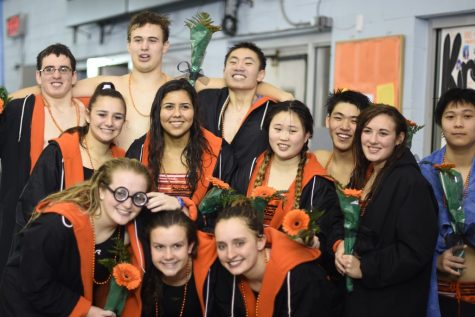 Swim and dive host senior night (41 photos)