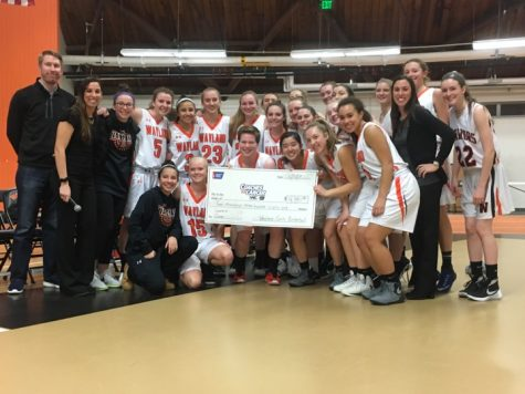 News Brief: Girls Basketball team present check to ACS