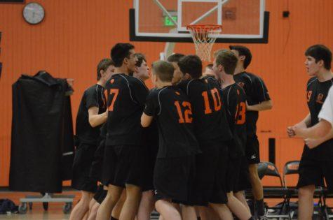 Boys' volleyball beats Newton South (32 photos)