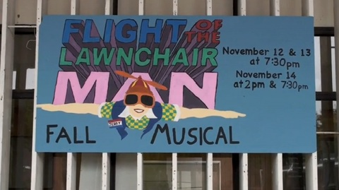 "Students take flight with ""Lawnchair Man"""
