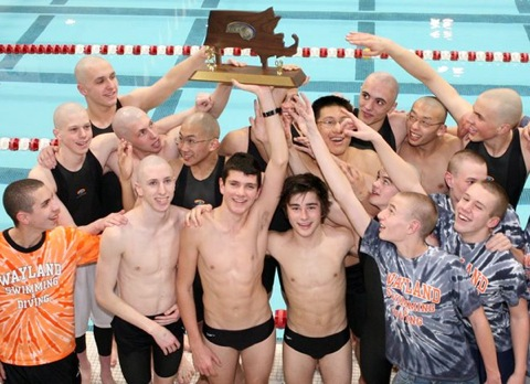 Last year's Wayland boys after winning the state championship. (Credit: The Becker Family)