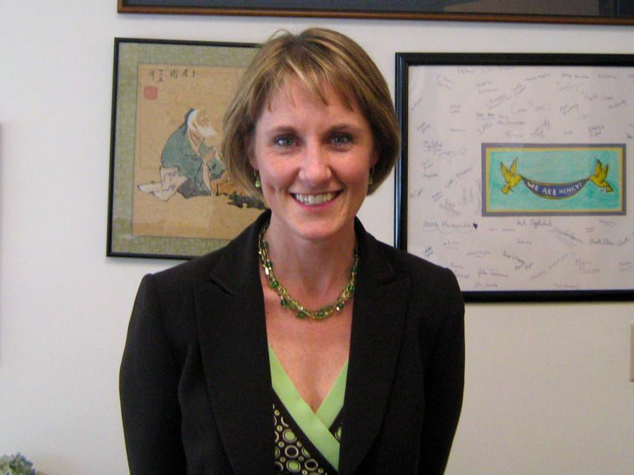 Betsy Gavron, the new principal of the Wayland Middle School (Credit: Jonathan Chen / WSPN)