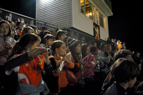 Elementary musicians join WHS Pep Band for AB game