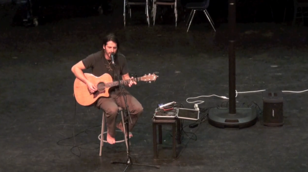 Winter Week: Adam Ezra performs during Monday lunches