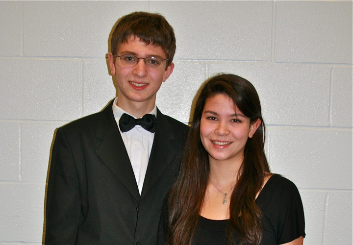 Junior Ryan Budnick (left) and senior Grace Quinn (right) will travel to Baltimore, MD in March to perform with the All-Eastern Band. (Courtesy: Kathy Radmer)