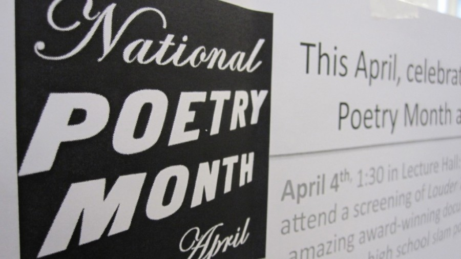The goal of celebrating National Poetry Month at WHS is to expose students to poetry who wouldnt otherwise read it.