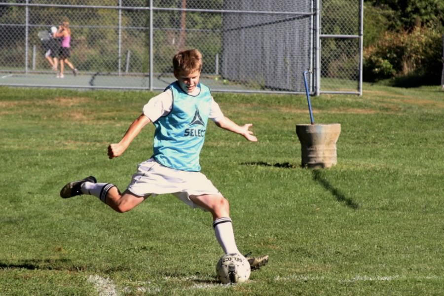 The boys soccer team is looking to repeat the successful season they had last year.