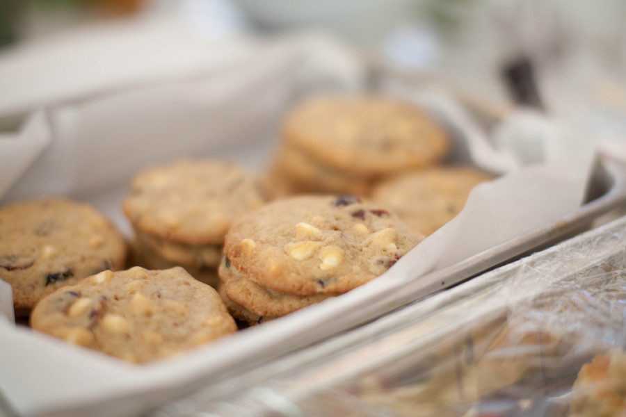 Elena recommends these Oatmeal Cranberry White Chocolate Chip Cookies for a holiday treat.