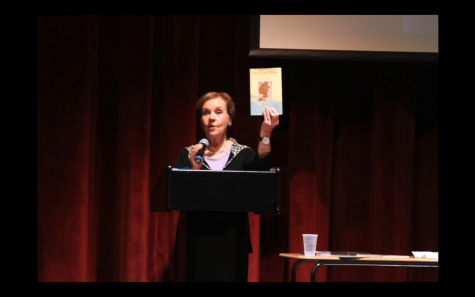 Marion Blumenthal Lazan speaks to students about surviving the holocaust