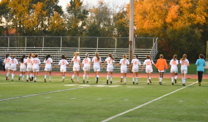 Wayland girls' soccer beats Bedford in last home game