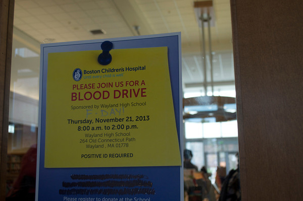 Pictured above is one of the many blood driver posters that can be seen around the school. Any student 16 and older is eligible to sign up with the school nurse to donate to the drive on November 21. The fact that one pint can save lives is so amazing because you don't really realize how much people need the blood, senior Mylinh Tran said.