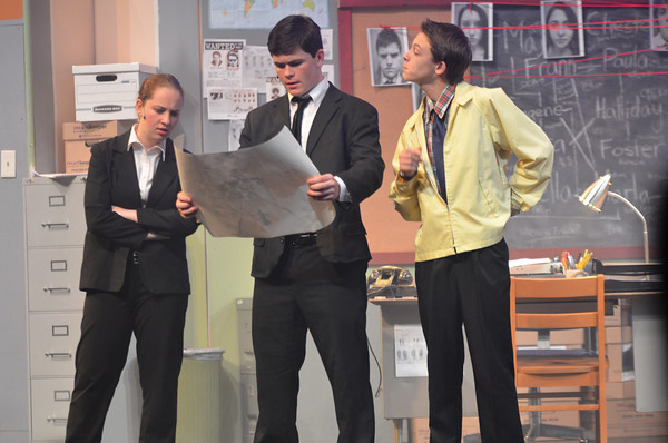 Above, junior Melissa Smith, senior Liam Fay and sophomore Jackson DiIanni perform in this years fall play, D.O.A. WSPNs Sammy Keating reviews D.O.A. and decides what she likes and dislikes about the WHSTE production.