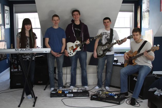 Pictured above is Pacifists at War. The band, which consists of three WHS students, released its first album in January.