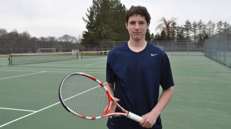 Picture above is junior Charlie Sharton. Sharton is a key player for the WHS boys tennis team.