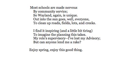 Dr. Ritchie's poem