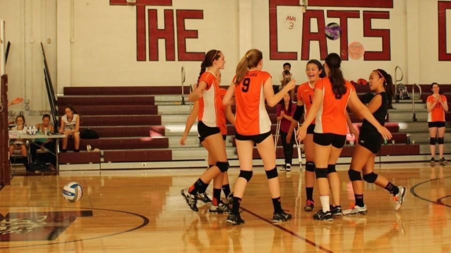 Girls' volleyball falls to Weston (37 photos)