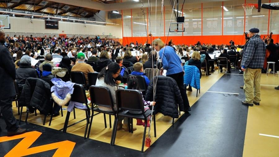 Student musicians play in String Jamboree