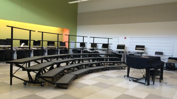 Pictured above is the chorus room. A new music lab is going to open up next year thanks to a grant from the Wayland Public Schools Foundation.