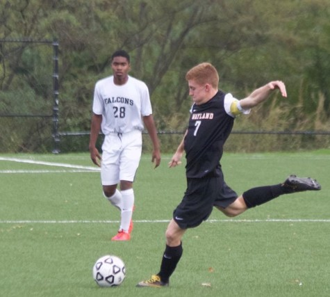 Above is senior Daniel D'Amico playing soccer. He has been playing since he was five.