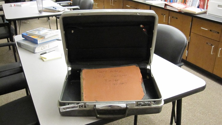 Above+is+the+briefcase+that+contained+Lt.+Col.+Martin+W.+Joyce%27s+documents+and+an+album+of+photos+of+the+1916+Punitive+Expedition+to+the+Mexican+border.+The+contents+of+the+briefcase+inspired+two+projects+that+actor+Casey+Affleck+and+history+department+head+Kevin+Delaney+are+collaborating+on.+%22We+were+like%2C+%E2%80%98Jeez%2C+why+is+this+thing+in+%5Bthe%5D+Wayland+High+School+book+room%3F%E2%80%99%E2%80%9D+Delaney+said.