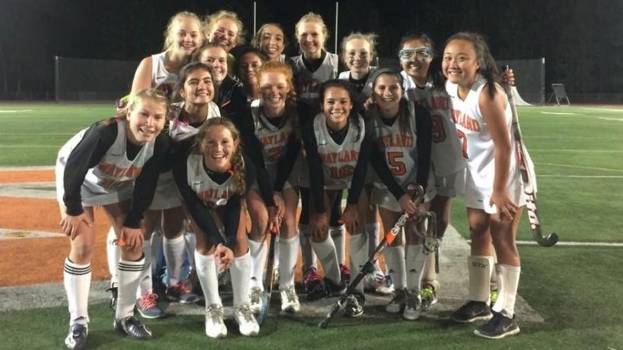 Pictured above is the Wayland girls field hockey team. They had their best season in years in 2015, winning the DCL.