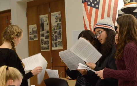 A cappella groups rehearse
