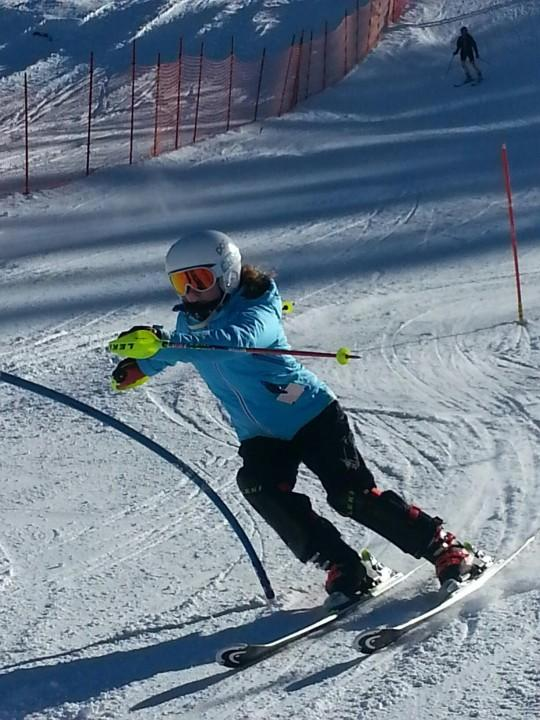 Above is sophomore Hannah Roberge skiing in a race. Roberge is a key skier on the WHS Alpine Ski team.