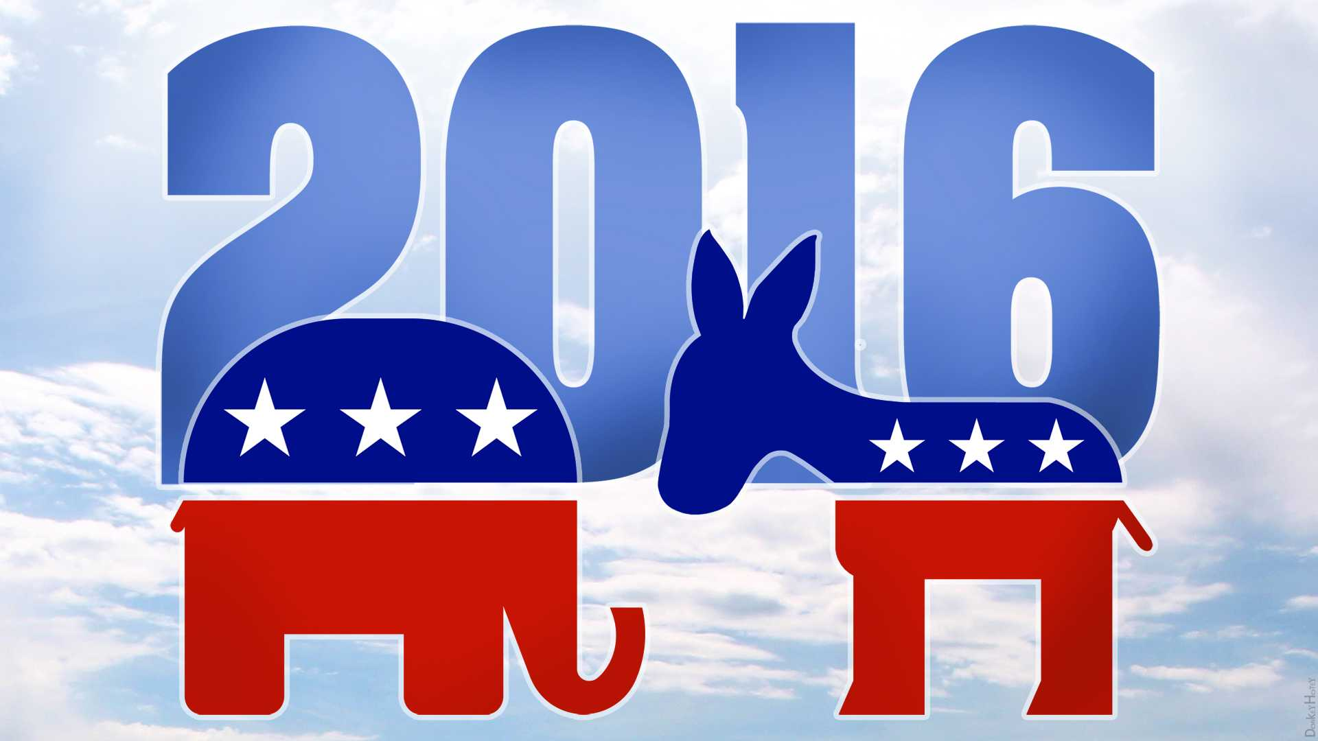 Pictured above are the symbols for the GOP and Democratic Party.
