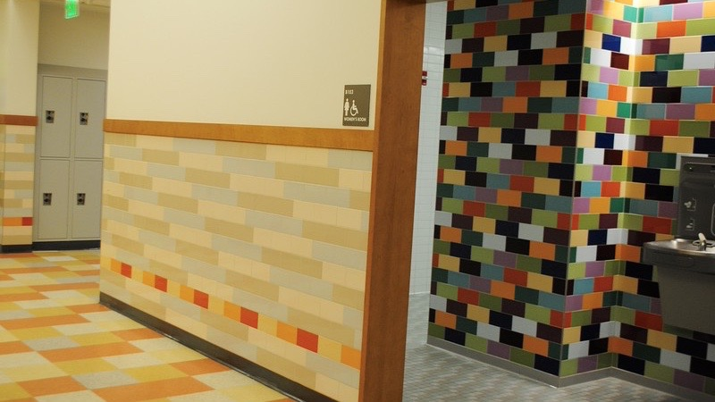 Pictured Above Are The English Bathrooms. These Bathrooms Are Going To  Become Gender Inclusive