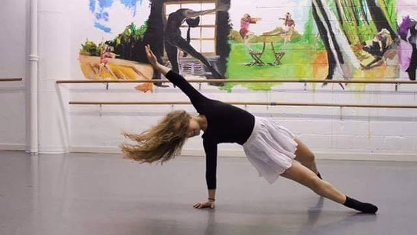 """Pictured above is sophomore Maggie Fiske. She has been dancing since she was three years old and recently danced with Urbanity Dance Company. """"For me [dance] is honestly what keeps me going. It's the only way I can release everything. It's just a creative outlet,"""" Fiske said."""