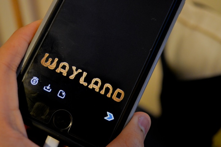 """Pictured above is the first Wayland Snapchat geofilter. The filter was created by alum Mindy Lou. """"It's really awesome to see people using it, especially right after I made it,"""" Lou said."""