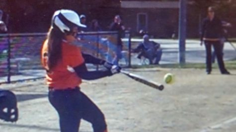 """Pictured above is senior Natalie Constantine. Constantine has started on Wayland's softball team for four years. """"I've been playing this sport since I could walk. I grew up around baseball/softball so it's basically a way of life for me,"""