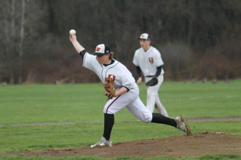 """Pictured above is freshman Jack Schwartz. """"I love baseball because all of the little things you do throughout the game play a role in the odds you have of winning the game. The team that does all of the little things right, such as talking, knowing where the next play is going and taking opportunistic chances, usually wins the game,"""