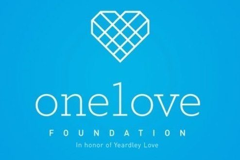 Pictured above is the One Love Foundation's logo. The foundation produced the movie