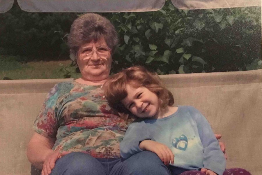 Pictured above is Lina Baranovsky and her grandmother.