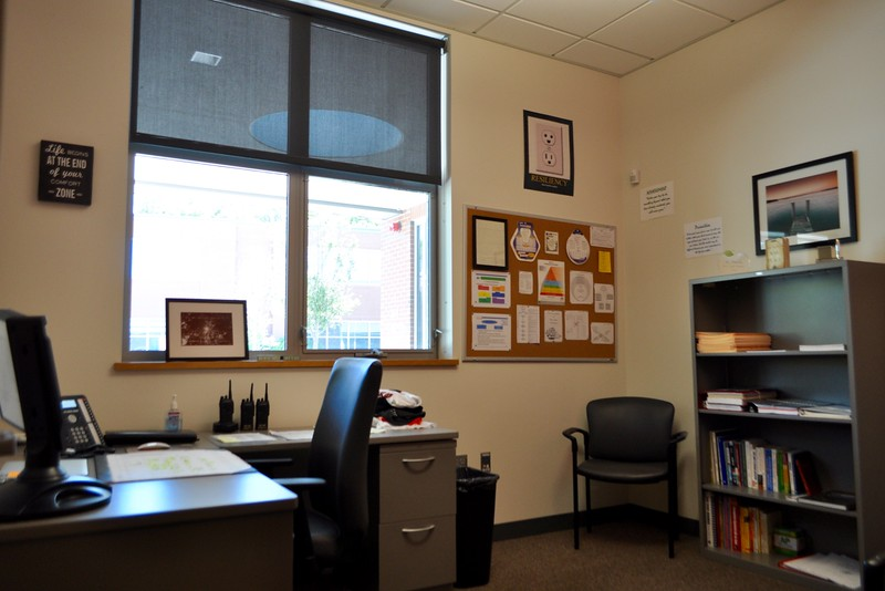 Pictured above is Assistant Principal James Nocito's office. Nocito will retire in the summer of 2019 after three years at WHS and 34 years in public education.