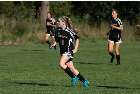 Pictured above is sophomore Ally Goldin. Goldin plays for the girls' varsity soccer team, has scored five goals this year, and is this week's athlete of the week.
