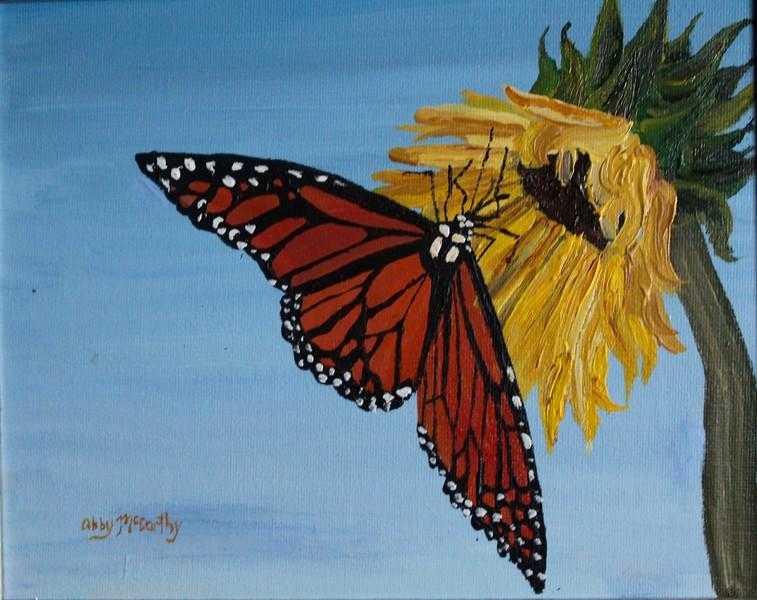 Pictured+above+is+a+painting+of+a+pollinator+and+a+flower+done+by+Abby+McCarthy.+In+this+article%2C+she+advocates+for+the+protection+of+bees+and+an+increase+in+bee+farms.+%22I+want+more+bees+in+my+neighborhood%2C+and+I+want+to+help+the+bee+population+recover+from+colony+collapse+disorder%2C%22+McCarthy+said.+