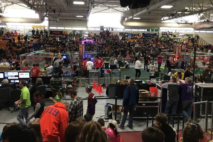 Pictured+above+is+the+venue+of+the+WHS+Robotics+Team%27s+recent+North+Shore+competition+two+weeks+ago.+The+team+is+competing+this+weekend+at+the+New+England+Regional+Competition.