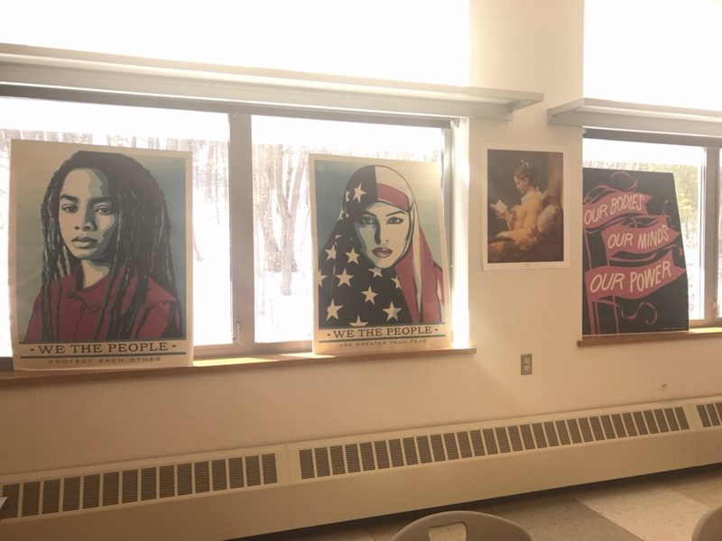 We The People posters hung around WHS