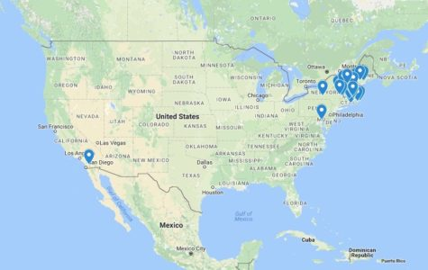 Where WHS students go to camp (map)