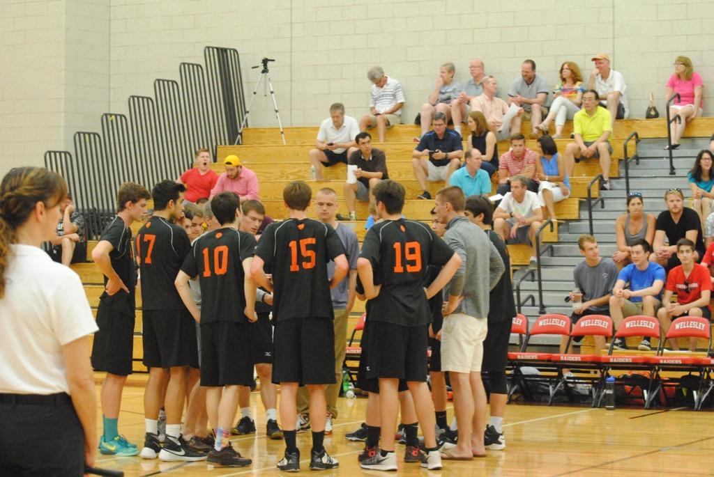 Boys' volleyball defeats Needham (28 photos)