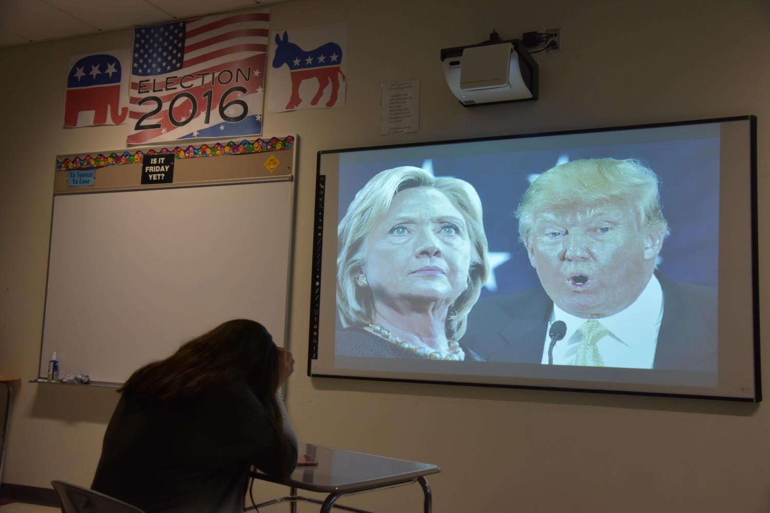 """Photo Illustration: A student expresses their feelings toward the 2016 election. A similar sentiment is evident in students who identify themselves as having minority political views. The majority political standpoint in the high school is liberal-sided,"""" senior Tyler Johnsen said. """"I would definitely say conservatives are very much in the minority and get singled out quite frequently."""""""
