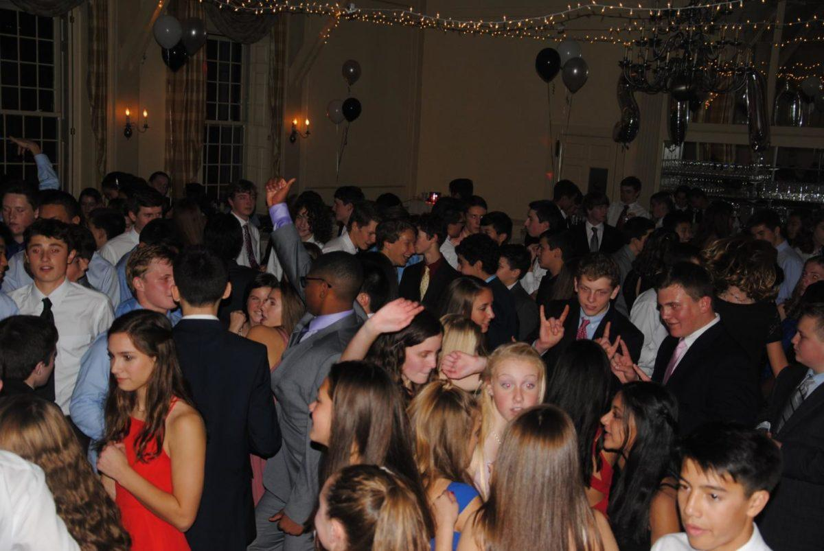 Pictured above is the Class of 2019 dancing at semi.